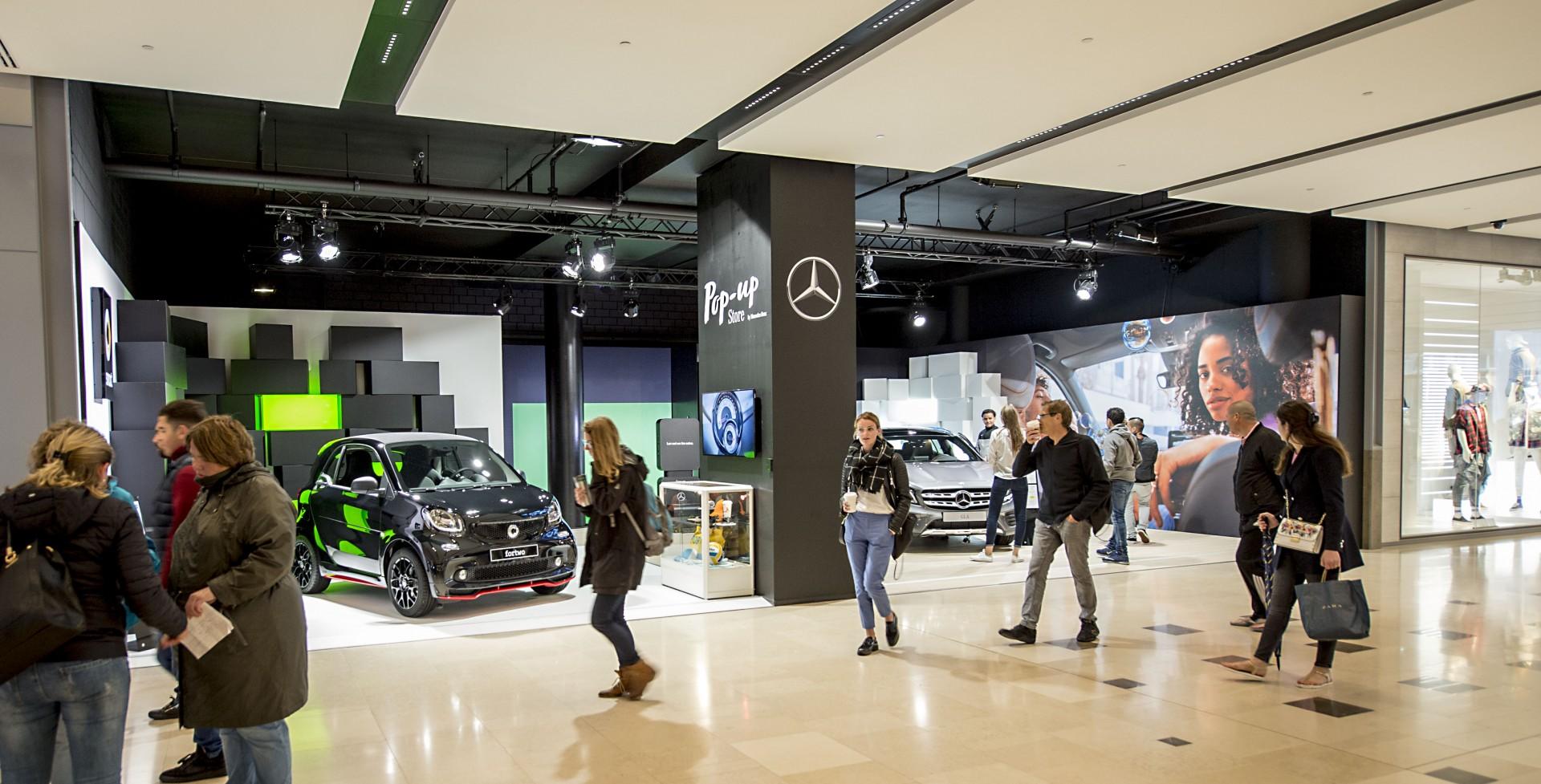 Mercedes pop up Hoog Catharijne